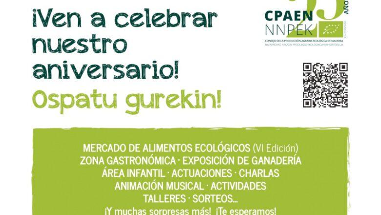 VI Feria Navarra Ecológica y… ¡25 aniversario CPAEN-NNPEK! ¡FELICIDADES!